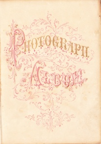 19th cen. Photo Album title page