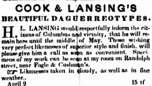 Cook & Lansing April 1850