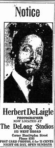 DeLaigle at DeLong Studio 1919