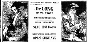 DeLong photos adv. May1918