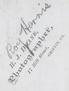 Dean, R. J. carte backmark RoyHarris