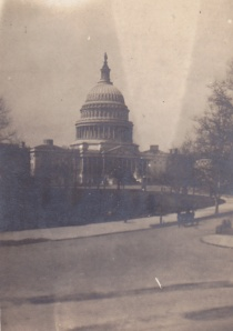 Washington DC view of Capitol detail real postcard