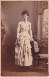 White, N.C.  cabWomanWhiteDress