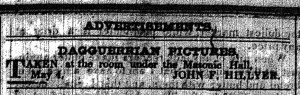 Hillyer daguerreotype adv.May1847