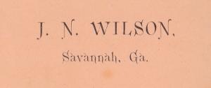 Wilson, J. N.  cdv backmark detail