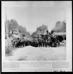 Allatoona_Pass_Bartow_County_April_18_1887_A_grouping_of_the_International_Association_of_Car_Accountants_with_the_locomotive_General_at_Allatoona_Pass_on_the_Western_and_Atlantic_railroad_in