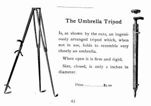 Anthony's Umbrella Tripod 1891