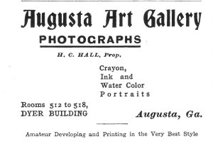 Augusta Art Gal. 1903 C of GA RR Guide