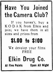 Elkin's ad ran April 20 into June 1913 in the Atlanta Constituion.