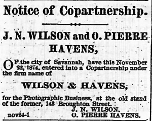 Wilson & Havens Copartnership1874
