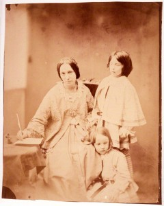 NPG P148; Julia Margaret Cameron with her two children, Henry Herschel Hay and Charlie Hay by Unknown photographer