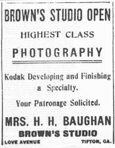 Tifton Gazette, Nov. 1, 1912 p. 9 c.5