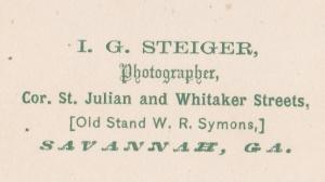 Steiger, J.G. c1870 cdv backmark