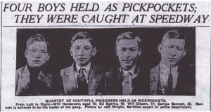 Wright, Jeff Speedway Pickpockets 1910