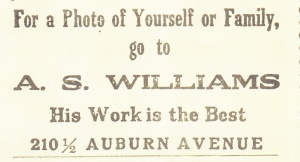 Williams, A.S. 1914 Atl cd