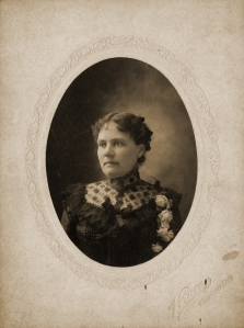 Portrait of Augusta Reeves Hearn, made at their photograph studio in Winchester TN, ca.1900; courtesy of Ruth Reeves Dill