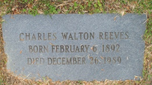 Marker for Charles Walton Reeves, photo via www.findagrave.com