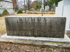 The grave of William A. Kuhns, Oakland Cemetery, Atlanta, Georgia