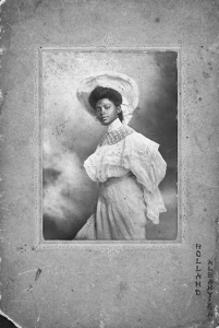 Portrait of an unidentified woman, silver gelatin print made by Holland, Albany GA, ca. 1905; collection Schomburg Center, New York Pubic Library