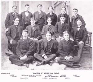 Editors of the Corks and Curl, 1896, photo by R. W. Holsinger, in issue # ?