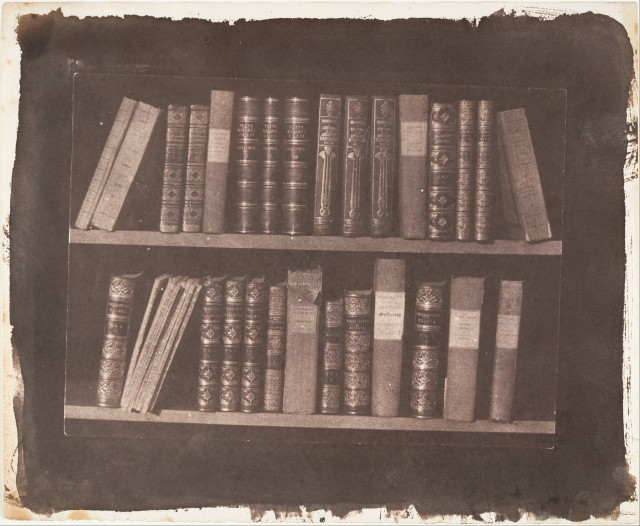 Scene in a Library, by William Henry Fox Talbot, before March 22, 1844; The Metropolitan Museum of Art, Gilman Collection, Gift of The Howard Gilman Foundation, accession number 2005.100.172.