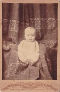 Cabinet card, unidentified baby, ca. 1894, by Edwards & Son, Atlanta GA