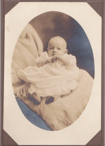Unidentified baby, ca. 1921, print by [J.W.] Sale's Studio, Augusta, GA; collection of E. Lee Eltzroth