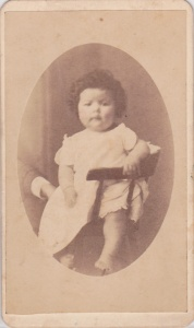 Carte-de-Visite of a childe of the Ogletree family, by J M. Tomlinson, LaGrange, GA;