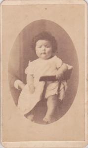 Carte-de-Visite of a childe of the Ogletree family, by J M. Tomlinson, LaGrange, GA;