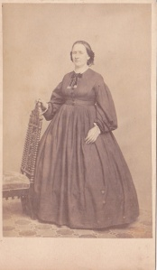 Carte de visite by Bingham, Dover, New Hampshire, portrait of an unidentified woman, ca. 1865
