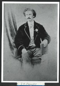 Portrait of J. F. Coonley, ca. 1860 by unidenfied photographer; image courtesy of Larry J. West, via P. J. Vanderbeck-Thomas; Original at National Portrait Gallery gift of Larry J. West.