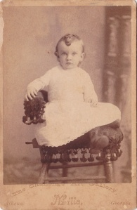 C. B. Mills Challenge Art Gallery, Athens, GA, Cabinet card portrait of unidentified boy, ca. 1890