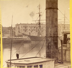 Stereoview and detail; J. F. Coonley, ca. 1868; courtesy Keith B.C. Brady collection