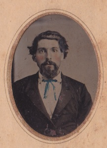 C. J. Warner, detail of a hand tinted tintype of Jink Davis, Rome GA, ca. 1878