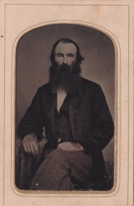 G. T. Williams, hand tinted tintype, an unidentified gentleman, Columbus GA, ca. 1874