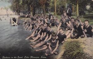 Lake Manawa IA 1911 postcard
