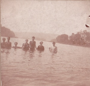 Swimmers, unknown ca.1900 detail