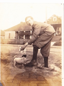 Atlanta snapshot young man, pup c1914