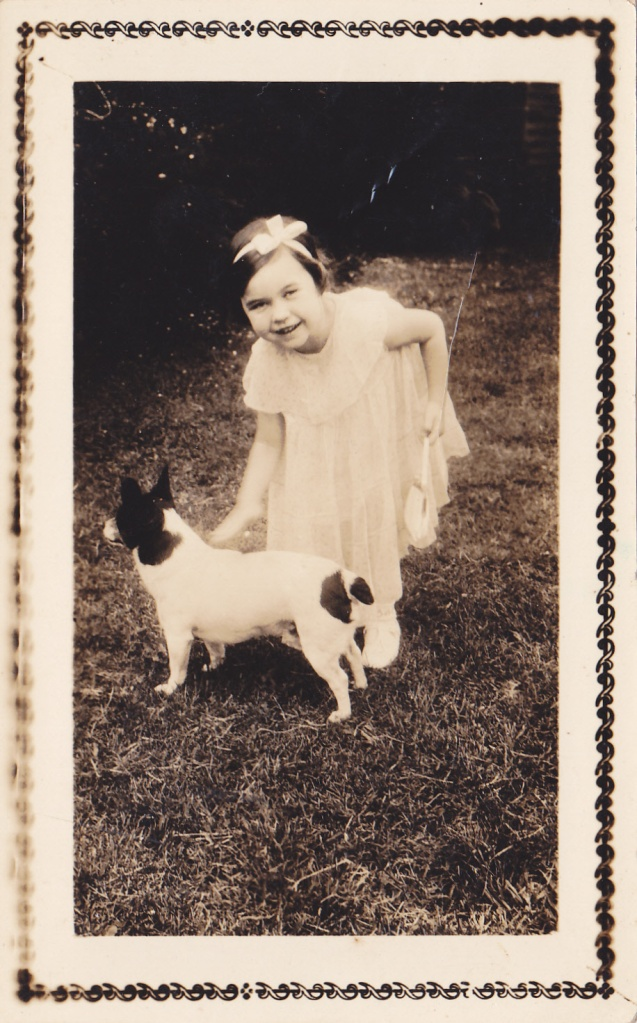 Little girl and dog ca.1930 snapshot