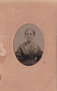 Annie Foy (Anne Elizabeth Foy), ca. 1870 tintype by J.U.P. Burnham; collection E. Lee Eltzroth