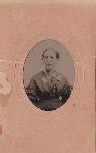 Annie Foy (Anne Elizabeth Foy), ca. 1870 tintype by J.U.P. Burnham; collection E. Lee Eltzroth