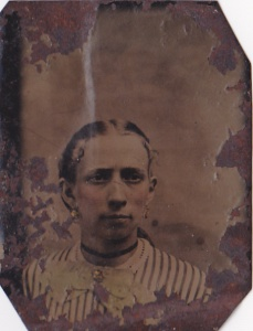 Martha Rebecca Foy Griner, ca.1870 tintype by J.U.P. Burnham; collection of E. Lee Eltzroth