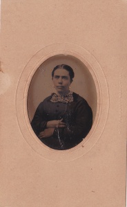 Georgia Ann Foy West, ca. 1870 tintype probably by J.U.P. Burnham; collection of E. Lee Eltzroth