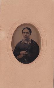 Georgia Ann Foy West, ca. 1870 tintype probably by J.U.P. Burnham; collection of E. Lee Eltzroth