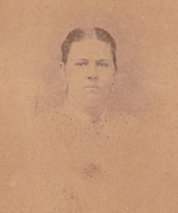 Eugenia Nantallia Foy Dutton, detail of carte de visite made ca. 1870 by an unidentified photographer; collection of E. Lee Eltzroth