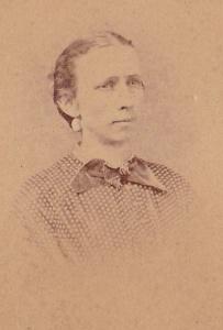 Martha Rebecca Foy Griner, carte de visite, vignette (detail) by unidentified photographer, ca. 1875; collection of E. Lee Eltzroth