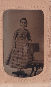 Alice Foy, ca. 1860, 1/6 plate tintype by an unknown Savannah photographer, possibly J.N. Wilson