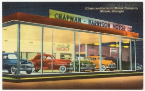 "Chapman-Harrison Motor Company, Macon, Georgia."" Card. 1930. Digital Commonwealth, http://ark.digitalcommonwealth.org/ark:/50959/w3763h37x (accessed July 04, 2016)."