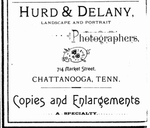 Hurd & Delany, Chattanooga adv. 1891 cd