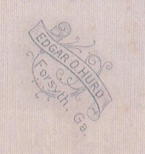 Hurd, E.O., Forsyth mat mark c1917 NotMine